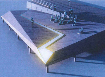 "Design rendering for ""Fractured Landscapes"" Holocaust memorial in Atlantic City"
