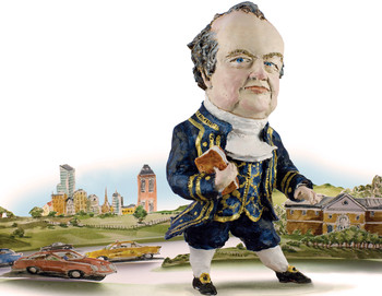 Sculpture illustration of George Baker as John Adams