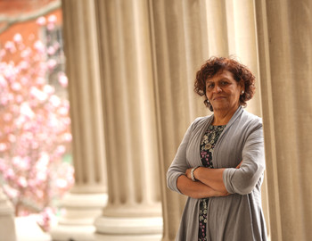 Columbia Social Work professor Nabila El-Bassel on Columbia campus