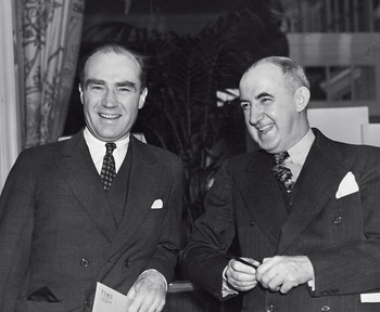 Henry Luce in 1937 with Columbia law professor, Newsweek columnist, and disillusioned Brain Truster Raymond Moley