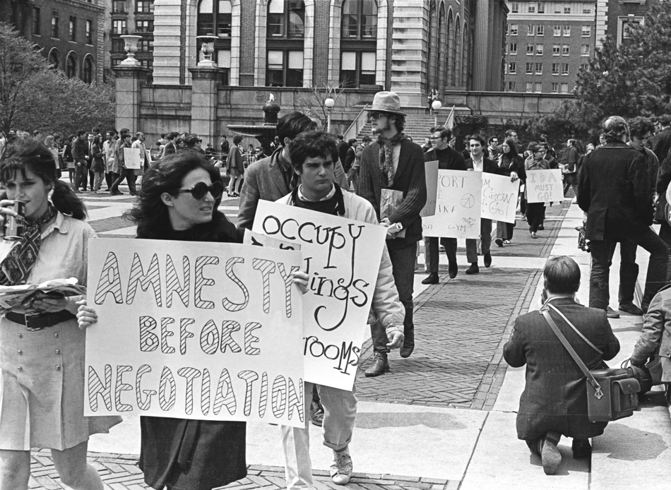 Photo of student protesters in 1968