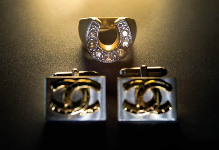 Ring and cufflinks