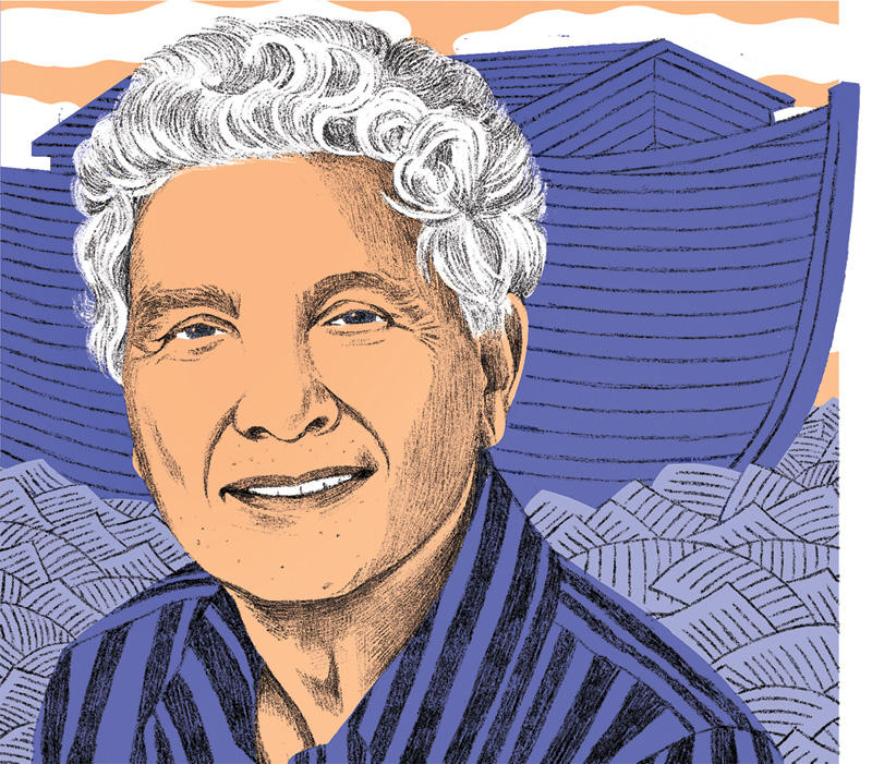 Illustration of Robert Alter by Claire Merchlinsky