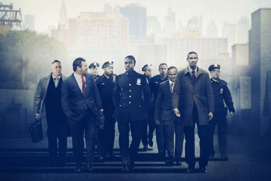 "NYPD police officers from ""Crime + Punishment"" on Hulu"