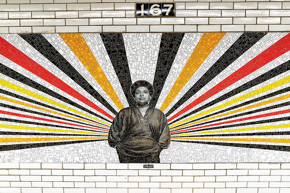 NYC subway station mosaic of Audre Lorde