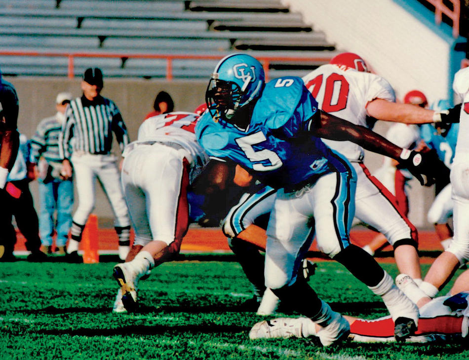 Marcellus Wiley playing for the Columbia Lions in 1994
