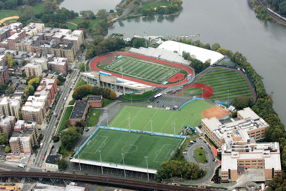 Overhead shot of Columbia's Baker Athletics Complex
