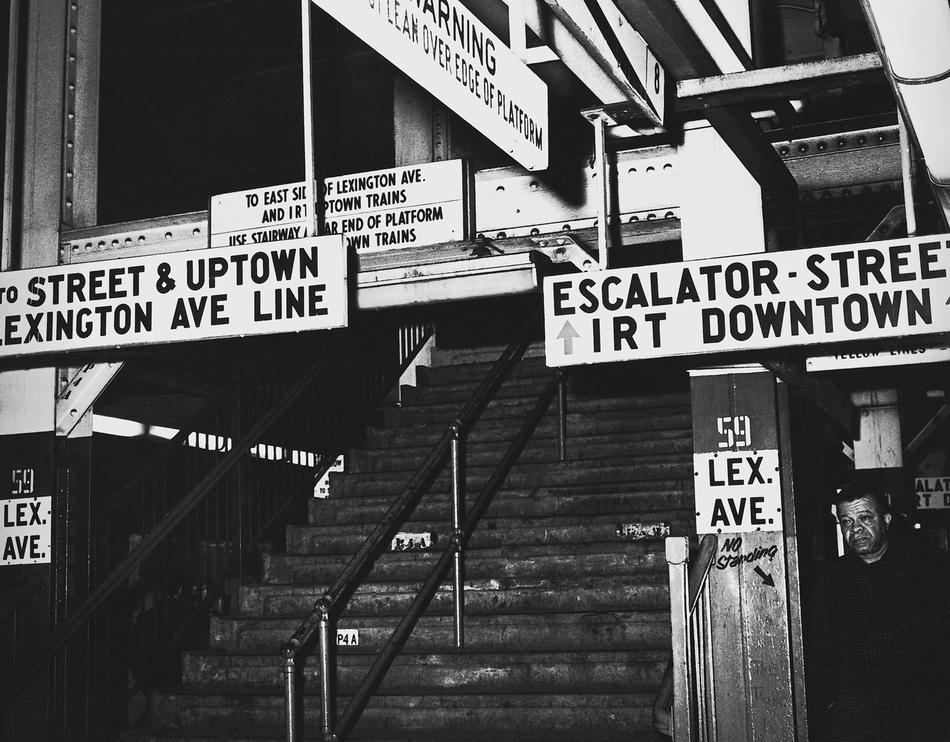 Subway signs in 1968