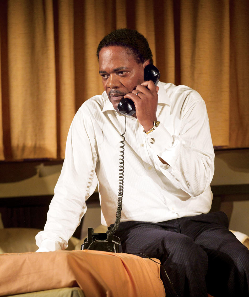 "Samuel L. Jackson as Martin Luther King Jr. in ""The Mountaintop"""