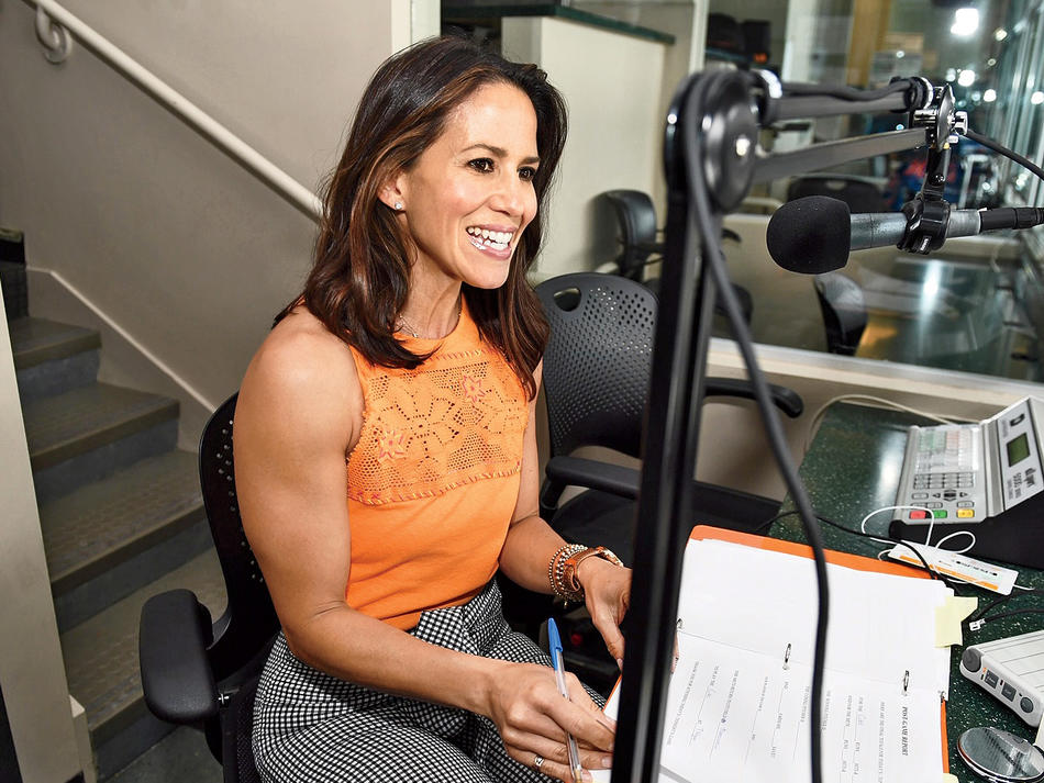 Mets announcer Marysol Castro in studio