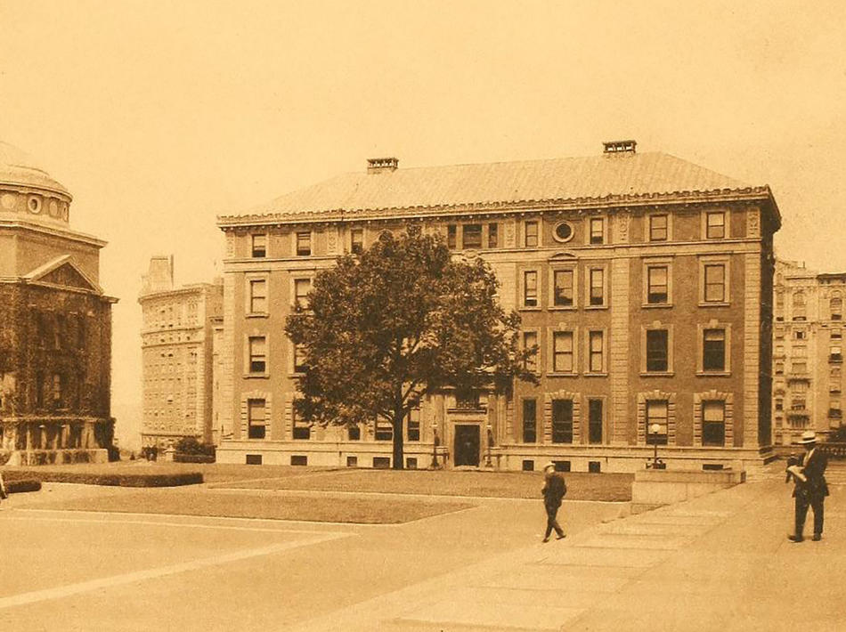 Photo of the Columbia Mathematics building in  1920.