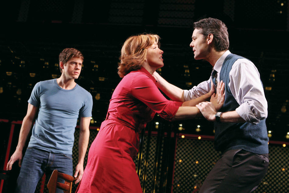 "Aaron Tveit, Alice Ripley, and J. Robert Spencer in the original cast of ""Next to Normal."" (Joan Marcus)"