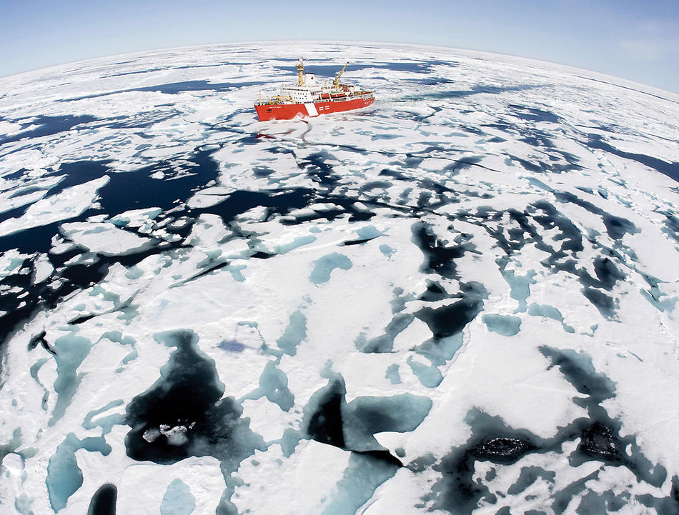 A Canadian Coast Guard crossing the Northwest Passage