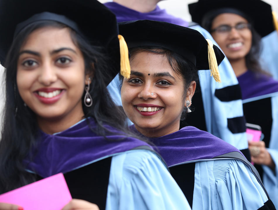 Members of Columbia Law School's class of 2019 at commencement