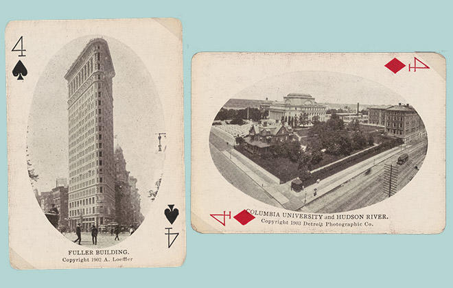 New York City, Standard Playing Card Co., Chicago, 1905. Columbia is on the 4 of Diamonds.