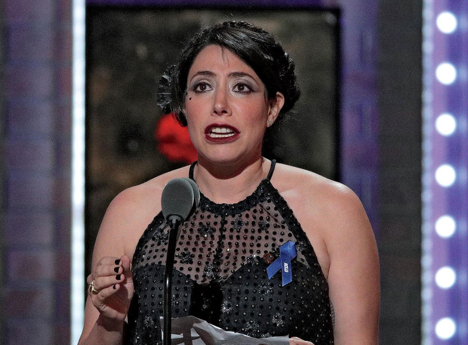 Rachel Chavkin accepting 2019 Tony Award for Hadestown