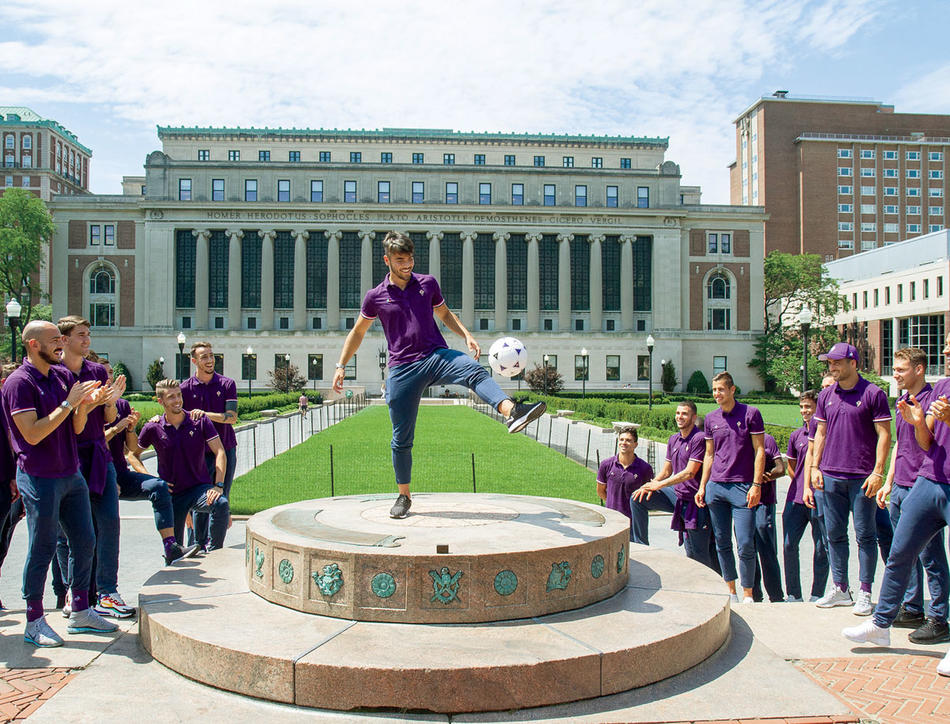 ACF Fiorentina Italian soccer team at Columbia University