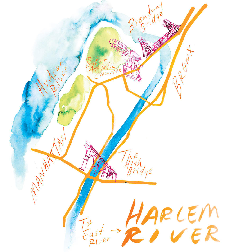 Illustration of Harlem River by Samantha Hahn