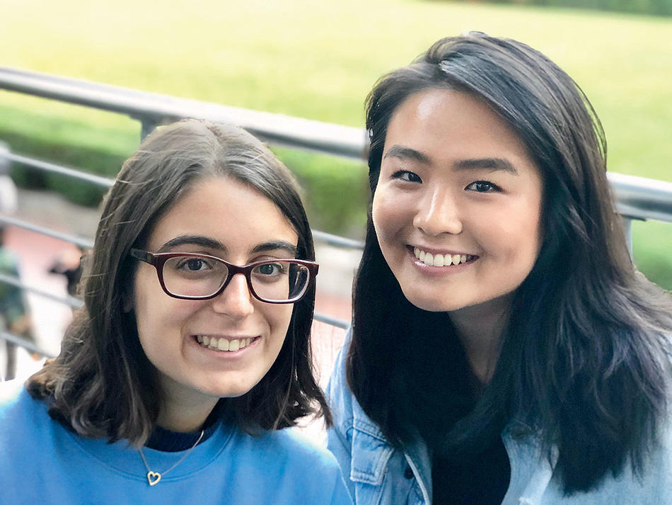 Zoe Elison and Sorah Park, members of the Columbia Vegan Society