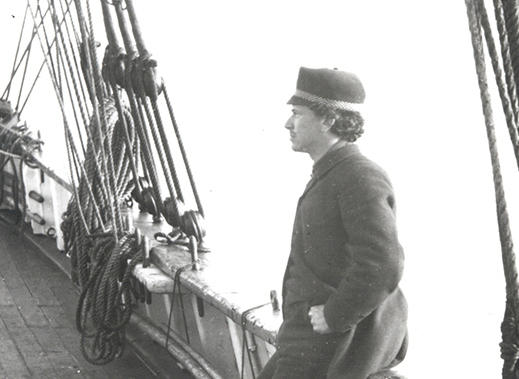 Franz Boas on ship sailing to Baffin Island in 1883