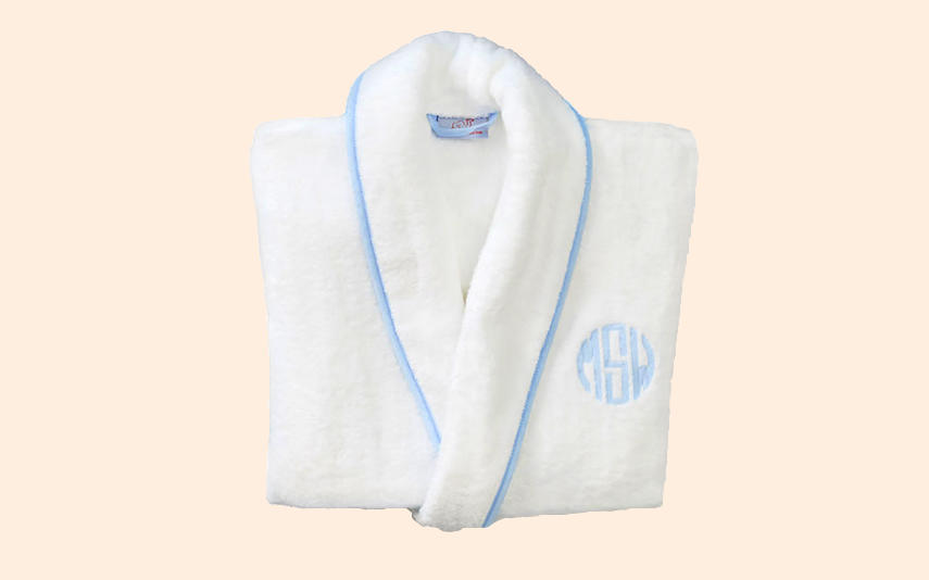 Monogrammed bathrobe from Weezie