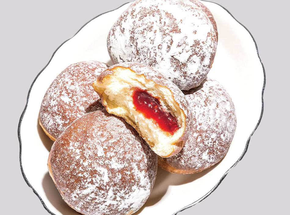 "Sufganiyot from the book ""The 100 Most Jewish Foods"" by Alana Newhouse"