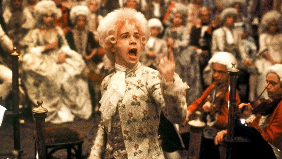 Tom Hulce in still from Amadeus