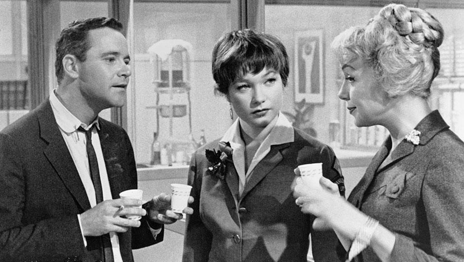 "Jack Lemmon, Shirley MacLaine, and Edie Adams in ""The Apartment"""
