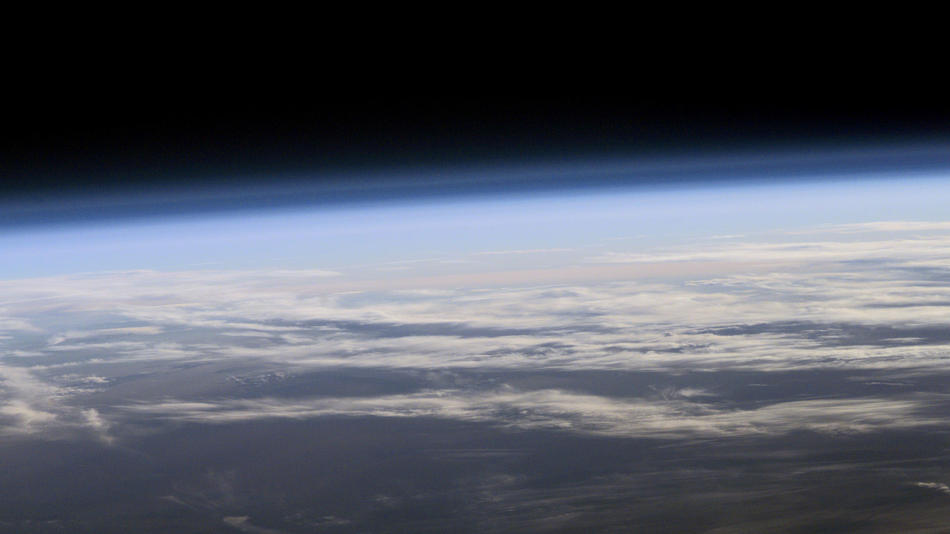 NASA photo of the Earth's atmosphere from outer space