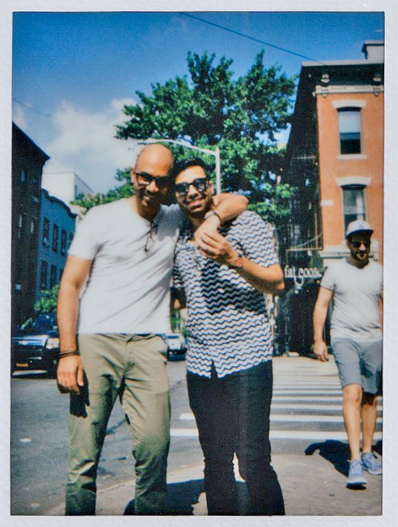 Ankur Paliwal with his boyfriend, Karan, in Brooklyn